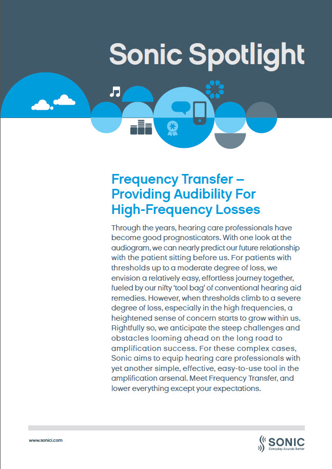 Frequency Transfer - Providing Audibilit...