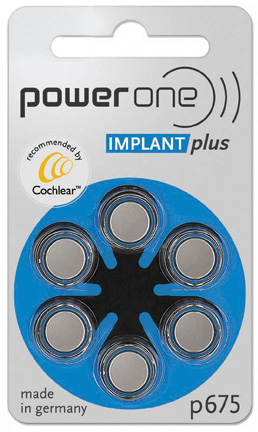 power one cochlear implant batteries