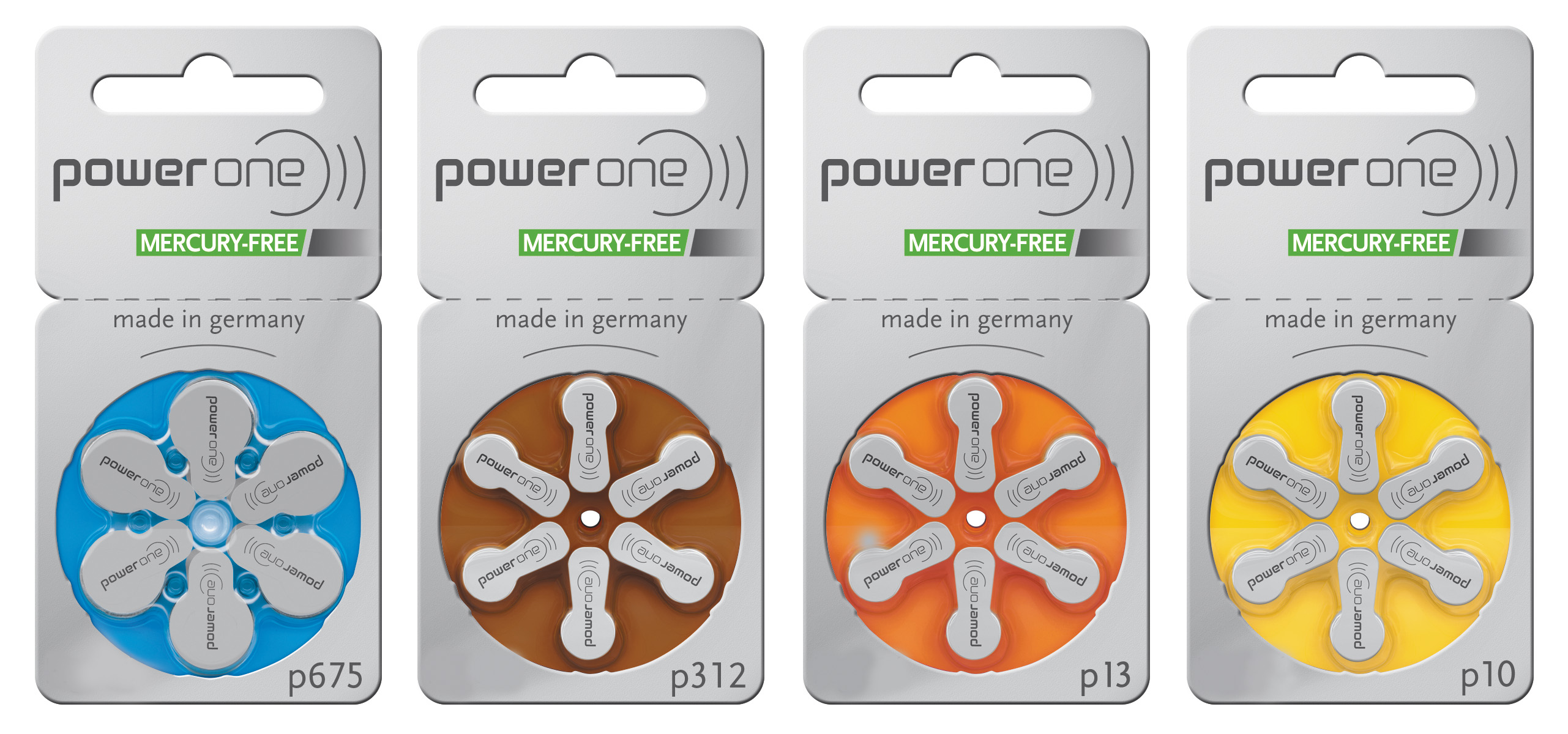 power one mercury-free hearing aid batte...
