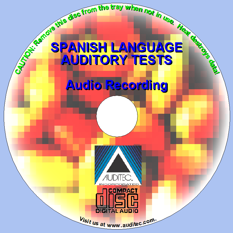 Spanish Auditory Test CD