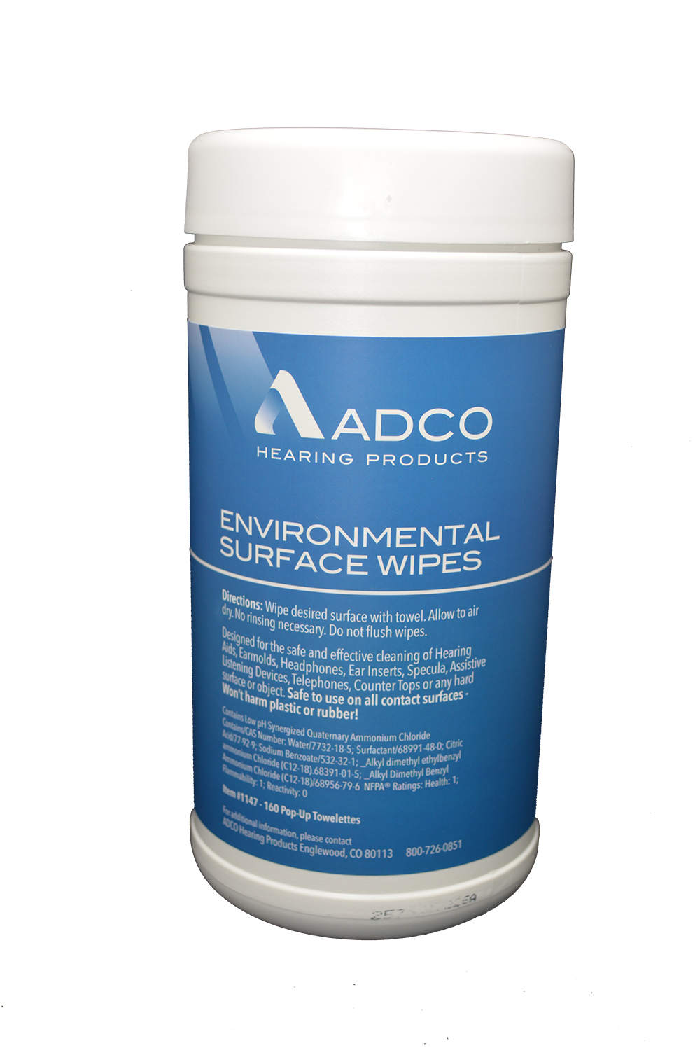 ADCO-Wipes (160ct Canister)
